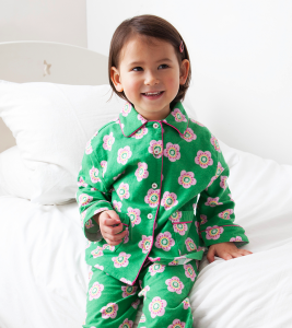 Brushed Cotton Pea Flower Pyjamas